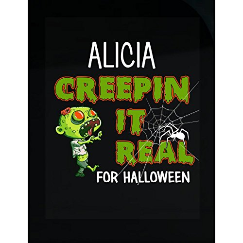 Prints Express Alicia Creepin It Real Funny Halloween Costume Gift - Sticker