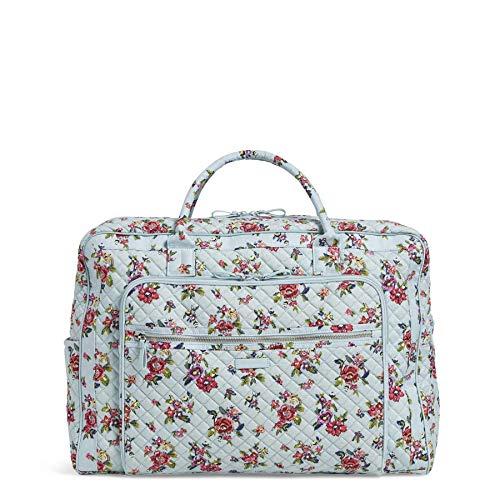 Vera Bradley Iconic Grand Weekender Travel Bag, Signature Cotton, Water Bouquet