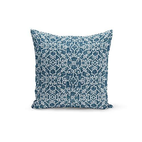 ue and White Pillowcase Cover Premier Prints Ramey Oxford Pillowcase Covers Custom Zipper Closure ()