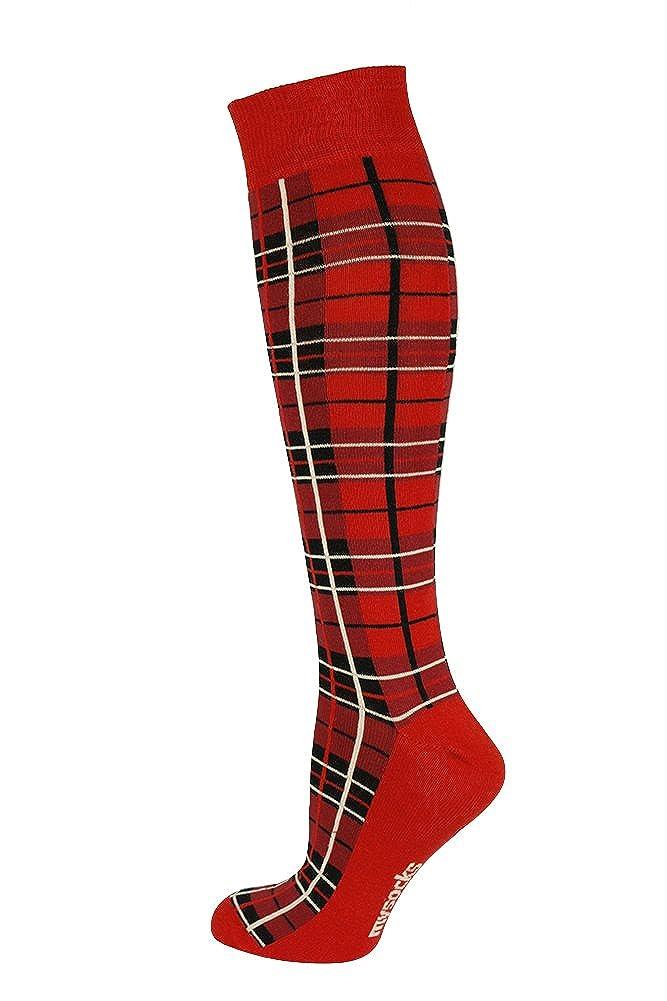 Mysocks/® Unisex Knee High Checked Socks
