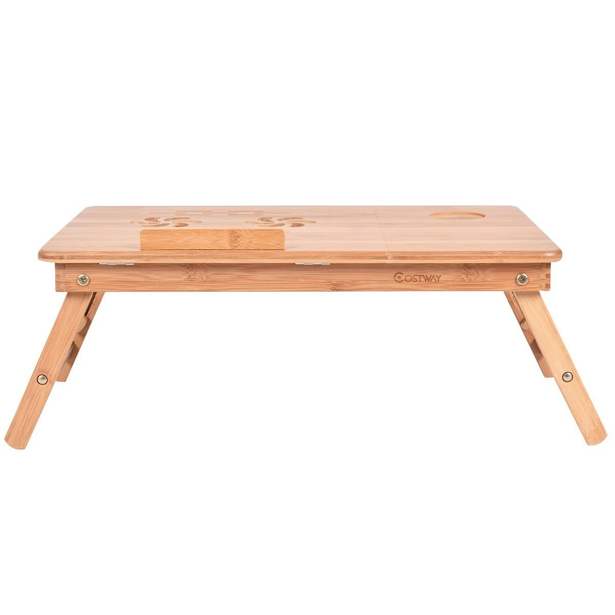 Apontus Portable Bamboo Laptop Desk Table w/Drawer