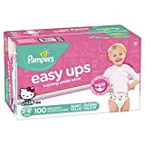Pampers Easy Ups Pull On Disposable Training Diaper for Girls Size 5 (3T-4T), Giant Pack, 100 Count
