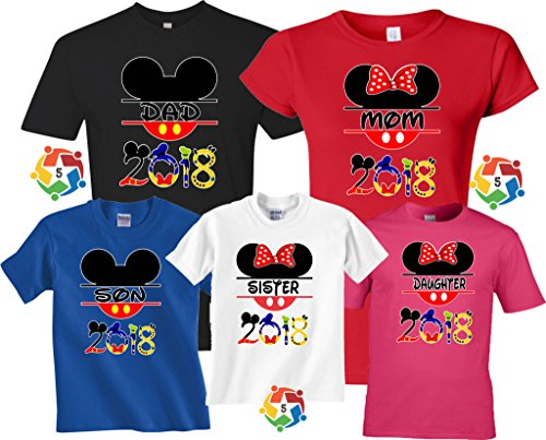 Family Vacation 2018 Mickey   Minnie Custom Name Matching Shirts Onesie 18  Months 177de3a4a