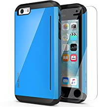 iPhone 5C Case, OBLIQ [Skyline Pro][Blue] w/ HD Screen Protector - with Kickstand Slim Fit Bumper Dual Layered Heavy Duty Hard Protection High Quality Case for Apple iPhone 5C