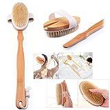 Voguecase for Long Handle Bath Back Brush Wooden Body Shower Brush Massage