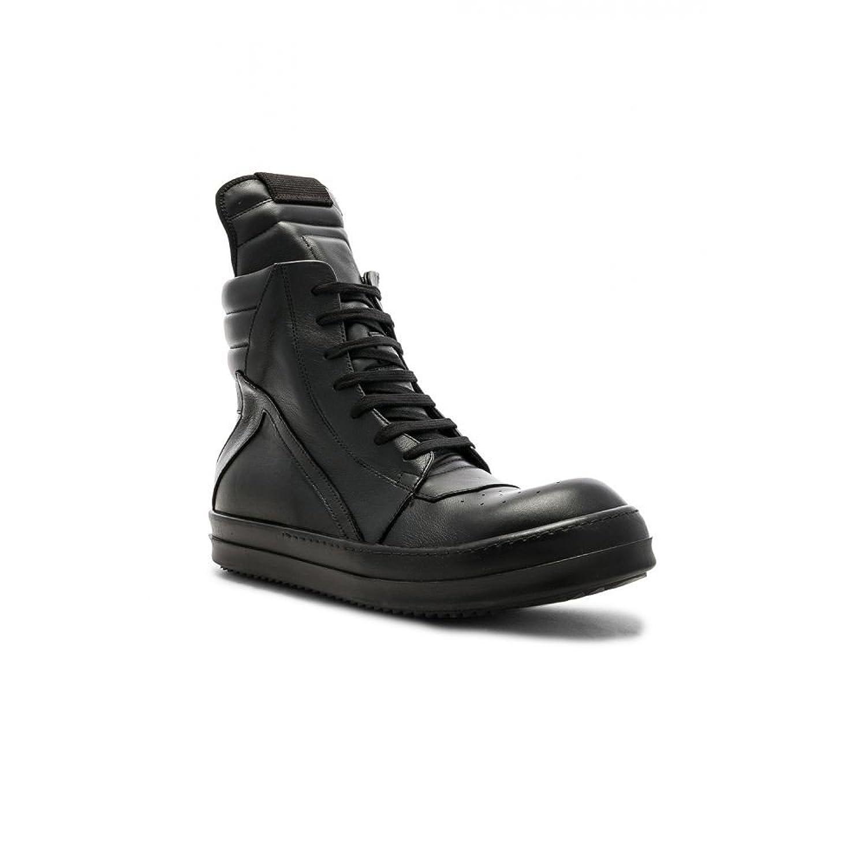 (リック オウエンス) Rick Owens メンズ シューズ靴 スニーカー Leather Geobasket [並行輸入品] B07F7FCTQ1
