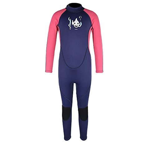 Kids Wetsuit Shorty 2mm Neoprene Thermal Swimsuit Toddlers Girls Boys Front Zipper Keep Warm for Diving Surfing Swim Lessons