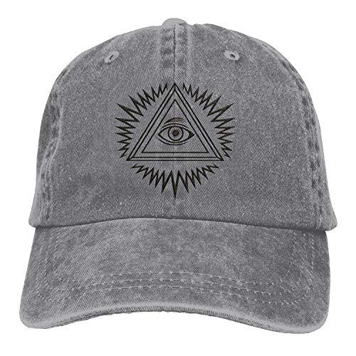 Illuminati 3D Customized Washed Denim Hats Autumn Summer Men Women Golf Sunblock Hockey Caps,Purple,One Size
