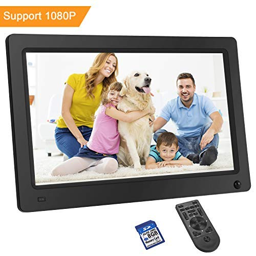 LESHP Digital Photo Frame 11.6 Inch 1920x1080 Hi-Res with IPS LCD and Motion Sensor 1080P Full HD Video Playback Photo Calendar Slideshow Music Video Player Non-WiFi (Gift:8G SD Card - Sensor Cable Photo