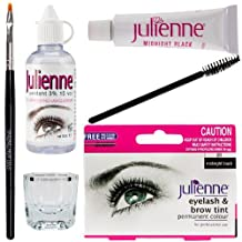 Julienne Eyelash Tinting Kit Black 4 Piece by Natures Curve by Julienne