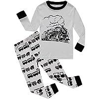 Dolphin&Fish Boys Pajamas Dinosaur 100% Cotton Toddler Pjs Kids Sleepwear Clothes Set