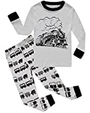 Dolphin&Fish Boys Train Pajamas Little Kids Pjs Sets 100% Cotton Toddler Sleepwears Size4T