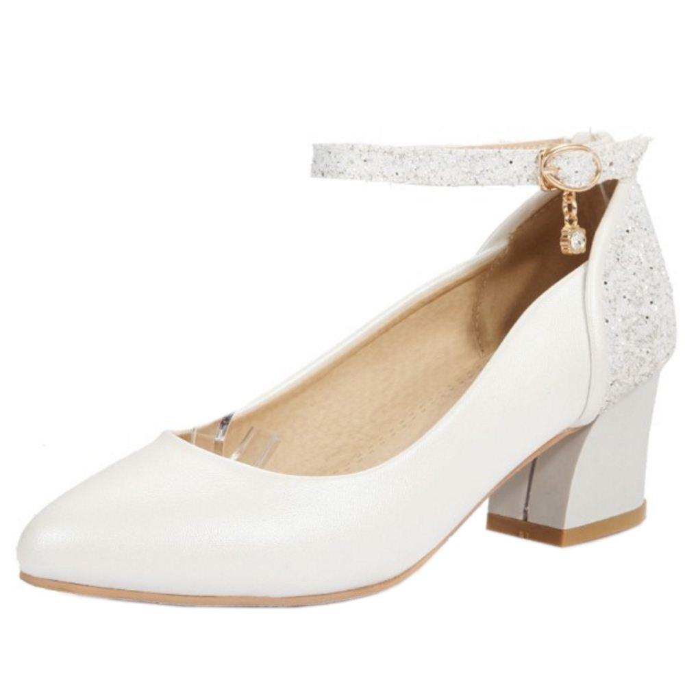 Zanpa Damen Pumps Ladies Glitter36 EU (sole length 23 CM)|White