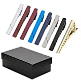 Kyпить Zysta 2-8pcs Mens Luxury Stripe Tie Bar, Stainless Steel Tie Pinch Clip, Set for Business Shirt Tie Regular Ties 2.3 Inch + Gift Box на Amazon.com