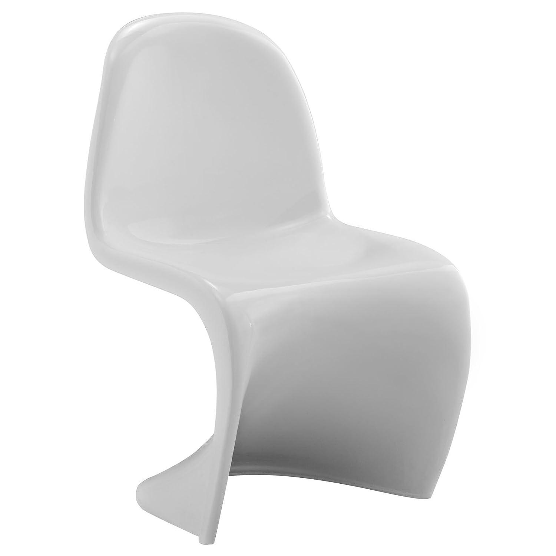 amazoncom modway verner kids panton style chair in white  - amazoncom modway verner kids panton style chair in white kitchen  dining