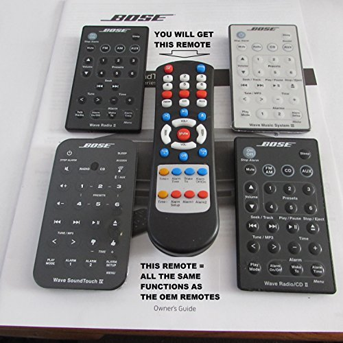 Replacement Remote Control for Bose AWRCC1 , AWRCC2 & Wave Radio II , III & IV Can do single and dual alarm functions.