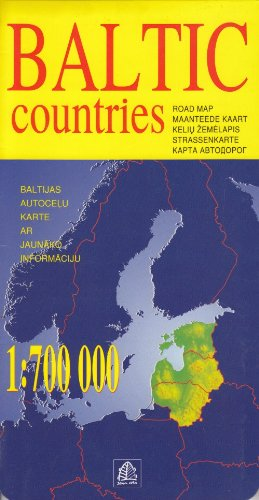 Baltic Countries Road Map (English, German and Russian Edition)