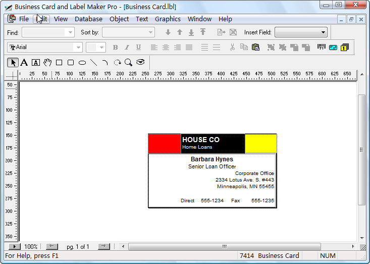 microsoft business card maker