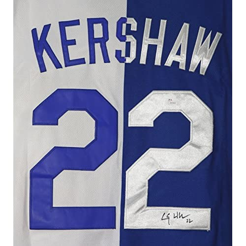 big sale 9fae7 90b95 Clayton Kershaw Los Angeles Dodgers Signed Autographed White ...