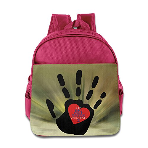 BestGifts Custom Superb Greek Wedding In Palm Boys And Girls School Bagpack For 1-6 Years Old Pink