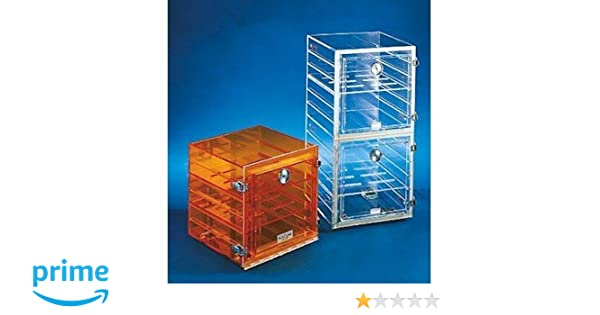 Cole-Parmer Shelf f/ Stackable Acrylic Dessicator Cabinets w/ Gas Ports, clear, 12