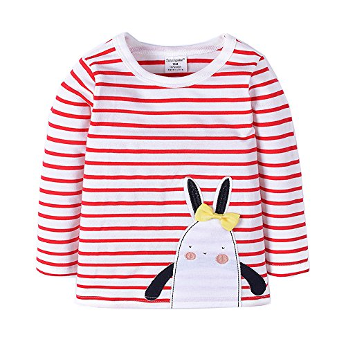 59s Costumes (Uudora Baby Girl Rabbit Embroidery Casual Long Sleeves T-Shirts 1-6Y)