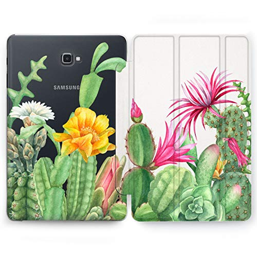 (Wonder Wild Cactus Print Samsung Galaxy Tab S4 S2 S3 A E Smart Stand Case 2015 2016 2017 2018 Tablet Cover 8 9.6 9.7 10 10.1 10.5 Inch Clear Design Pereskioideae Prickly Pear Cereus Natural Plants)