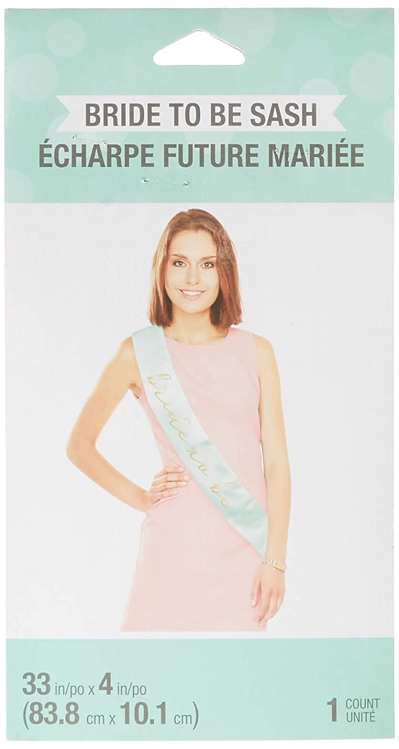 One Size Theme Party Accessories Mint Green and Pink Creative Converting 324692 Bride to Be Sash