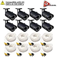Q-See 1080p HD Bullet Security Camera 8-Pack: 2MP, 3.6mm Lens, 24 IR LEDs up to 80ft, 2D-DNR, BLC, AGC, IP66 - QCA8050B