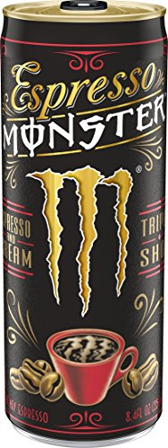 Espresso Monster Espresso & Cream, Espresso Energy Drink, 8.4 ounce (Pack of 12)