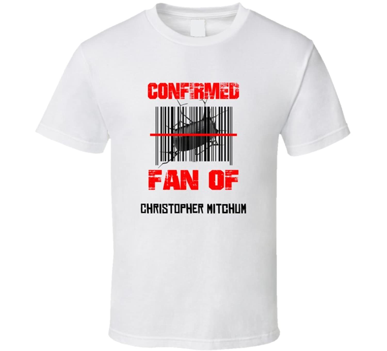 Christopher Mitchum NHL Scanned Barcode Fan T shirt 2XL White