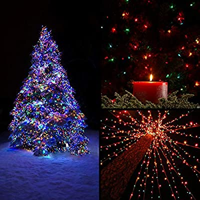 Juhefa Colorful Curtain Lights, USB Powered Fairy String Lights,IP64 Waterproof & 8 Settings Twinkle Christmas Lights for Tree,Party,Weddings,Kids,Wall Decorations (300LEDs,9.8x9.8Ft,Multi-Color)