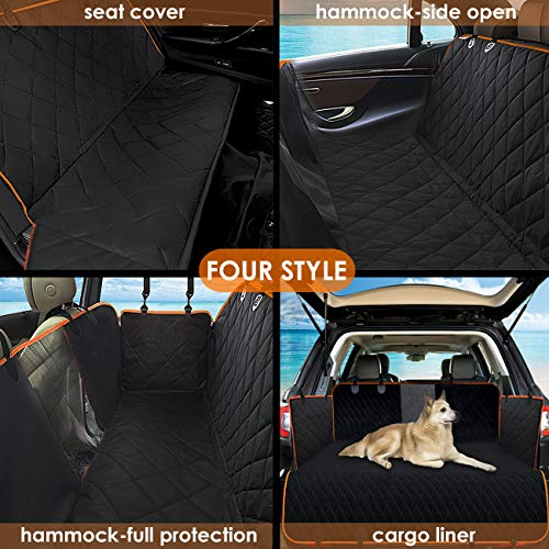 Babyltrl Dog Seat Covers, Pet Car Seat Cover with Mesh Window, Waterproof & Nonslip Hammock Convertible, Scratch Proof Side Flaps Machine Washable Back Seat Cover for Cars Trucks and SUVS by Babyltrl (Image #3)