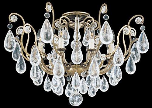 Schonbek 2485-51 Swarovski Lighting Versailles Rock Crystal Flush Mount Lighting Fixture, ()