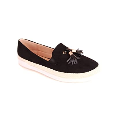 Slip on noires en velours à pampilles WdOWWp
