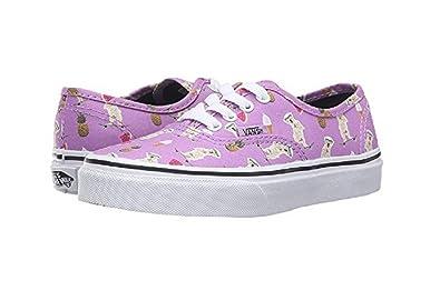 dec85c86d5 Vans Boy s Authentic (Pool Vibes) African Vilolet Skateboarding Shoes (10.5  Little Kid M