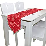 ALAZA Elegant Polyester Valentine's Day With Heart Table Runner For Dinner Parties, Valentine's Day Decor Country Holiday Birthday Wedding Party 13 x 90 inch