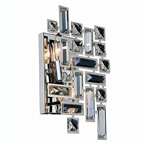 "Elegant Lighting 2100W12C/RC Picasso Collection Wall Sconce W8"" H12"" E3.5"" 2-Light, Clear from Elegant Lighting"