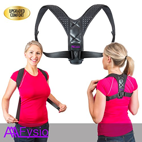 Best Back Posture Brace Good Scoliosis Thoracic Support Corrector Strap for Women Men Breathable Adjustable Under Clothe - Improve Rounded Shoulder, Slouch Upper Back and Neck Straightener Relief Pain