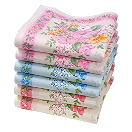 """Agathe"" handkerchiefs for Ladies – 16″ Square – 6 Units"