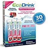 Cheap EcoDrink Complete Multivitamin Mix Drink. Blueberry Pomegranate Flavor – 30 Count Refill Pack (Bottle not included)