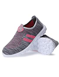 Womens Lightweight Mesh Slip On Walking Shoes,Breathable Outdoor Sport Running Sneakers