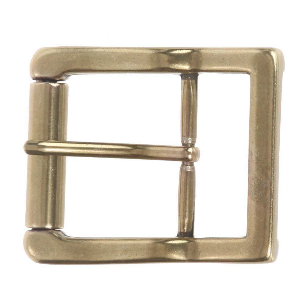 BBBelts Men Antique Silver Zinc Alloy Smooth Single Prong Buckle For 1-1//2 Belt