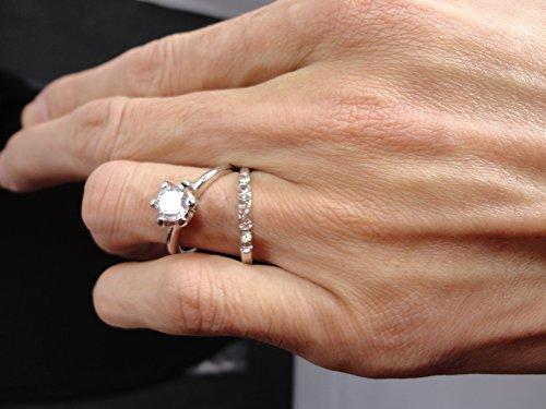 AIHIQI Fashion Wholesale Lots Rhinestone Cz Finger Ring for Mens Womens Gift (10pair (No Box)) by AIHIQI (Image #1)