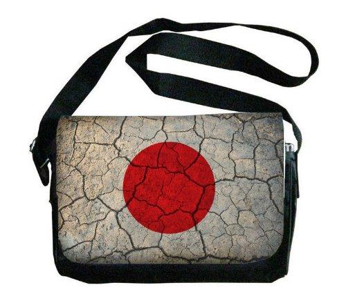 日本国旗Crackledデザインメッセンジャーバッグ B00FMFLHHI