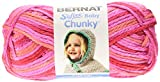 Bernat Softee Baby Chunky Yarn, Ombre, 4.2 Ounce, You Go Girl, Single Ball