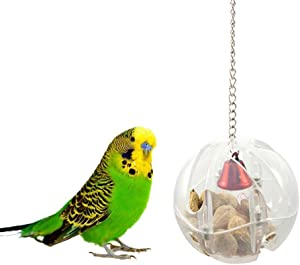 Hypeety Parrot Bird Cage Feeder Hanging Forage Toys for Parrot Budgie Parakeet Cockatiel Conure African Grey Cockatoo Macaw Amazon Lovebird Finch Canary Cage