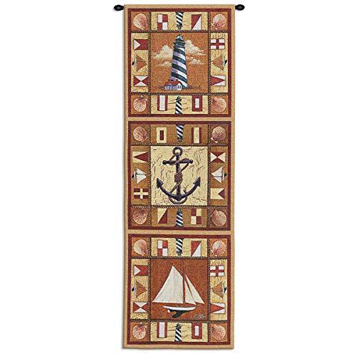 Bella Coastal Decor Harbor Icons Wall Tapestry ()