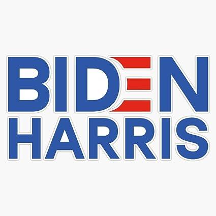 Biden and Harris 2020 Bumper Sticker 2 Pack Joe and Kamala