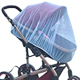 Chiak 59.1x45.3inch General Infants Baby Stroller Mosquito Insect Net Safe Mesh Crib Netting